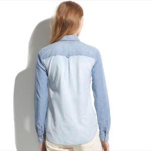 Madewell Tops - MADEWELL Two Tone Chambray Shirt